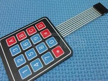 4 x4 keyboard film 4 * 4 matrix keyboard switch MCU development expand external control panel