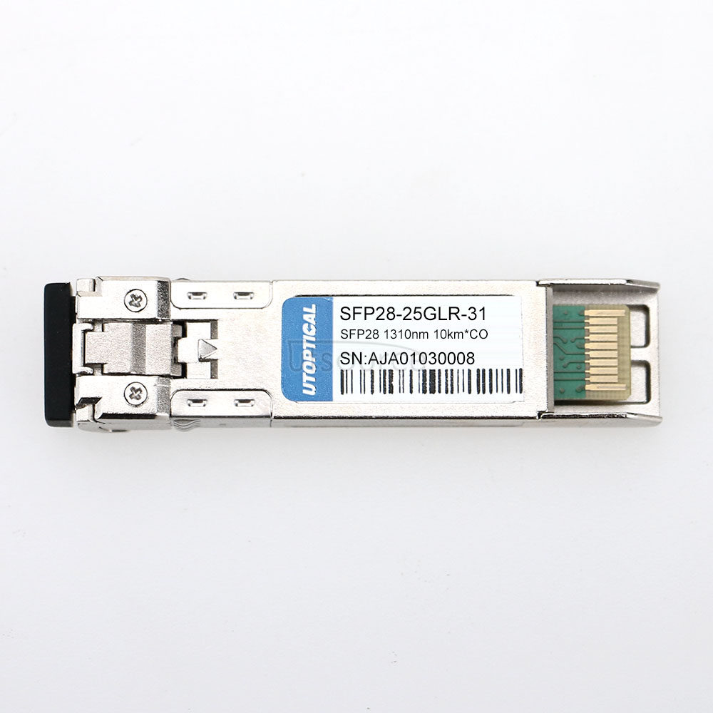 Cisco SFP-25G-LR-S Compatible 25G SFP28 1310nm 10km DOM Transceiver SFP28 transceiver module is individually tested on a full range of Cisco equipment and passes the monitoring of UTOPTIC.COM intelligent quality control system.