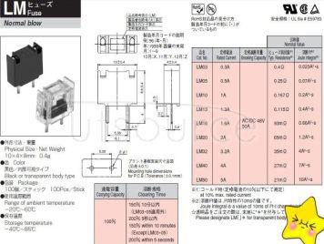 FANUC da dong fuse DAITO- transparent LM10 1.0A large 1A