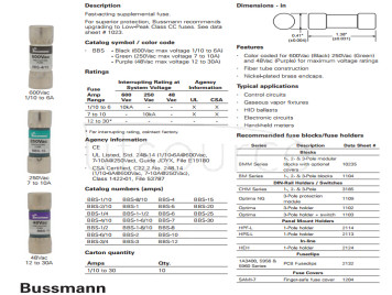 Bussmann imported American fast fuse bbs-3/4 600V 10*35 0.75a