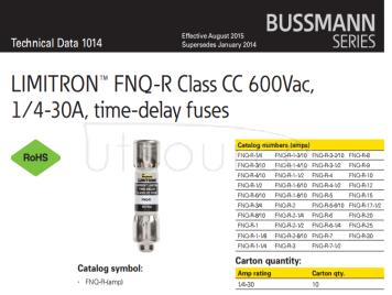 Ceramic fuse 10*38 Bussmann cc-tron fuse fnq-r-8 8A 600V