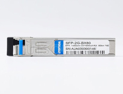 NETGEAR Compatible SFP-2G-BX80 1490nm-TX/1550nm-RX 80km DOM Transceiver   Every transceiver is individually tested on a full range of NETGEAR equipment and passed the monitoring of Utoptical's intelligent quality control system.