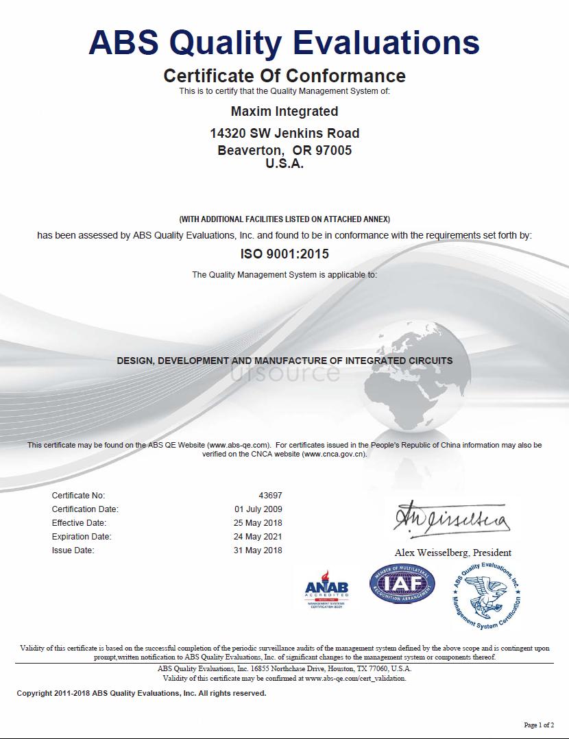 MAX485ESA+T IC TXRX RS485/RS422 8-SOIC MAXIM  2.5k/roll