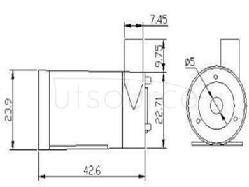 Small 3 v dc motor pump horizontal submersible pump DC3W fountain mini mini 4.5/5/6 v