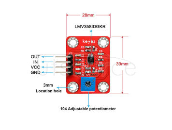 LM358 100-fold Gain Signal Amplifier Module Operational Amplifier Module Compatible with Arduino