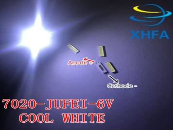JUFEI LED 7020 light-emitting Light Beads High Power1W 6V 90LM Cool white For LED LCD TV Backlight new chip-2
