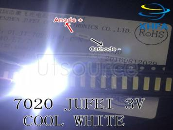 Original JUFEI LED 7020 light-emitting Light Beads High Power 0.5W 3V 54LM Cool white For LED LCD TV Backlight Applicatio