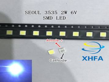 SEOUL 3535 6V 2W SMD Cold White LED High Power For LCD/TV Backlight