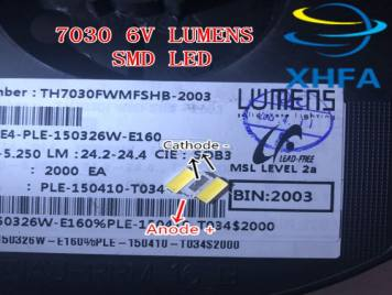Lumens SMD LED 7030 6V 1W Cool White For TV BackLight 200mA