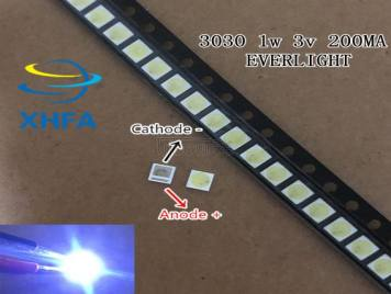 EVERLIGHT LED Backlight 0.8-1W 3030 3V Cool white 70-78LM TV Application 62-113TUN2C/S5000-00F/TR8-T