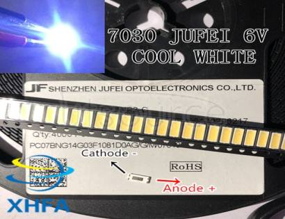 JUFEI  LED Backlight 1W 7030 6V Cool white TV Application smd 7030 led cold white 100-110lm 7.0*3.0*0.8mm CHIP-2