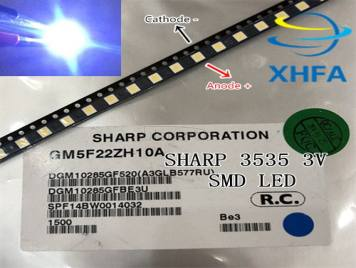 SHARP LED TV Application LCD Backlight for TV LED Backlight 1W 3V 3535 3537 Cool white GM5F22ZH10A