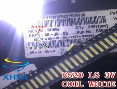 LG SMD 8520 LED Backlight 0.5W 8520 3V Cool white 50-55LM TV Application