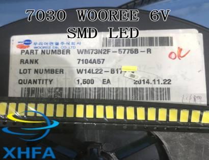 WOOREE LED Backlight 1W 6V 7030 Cool white LCD Backlight for TV TV Application
