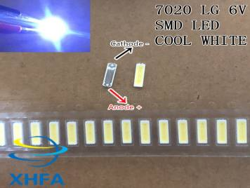 LED 7020 light-emitting Light Beads High Power 1W 6V Cool white For Original LG LED LCD TV Backlight Application