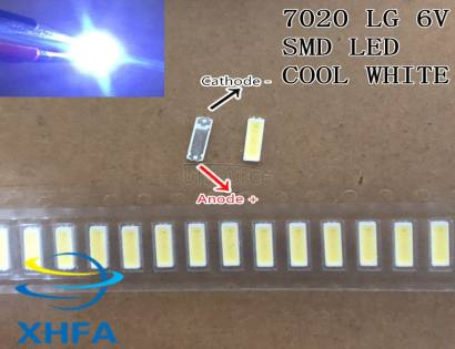 LED 7020 light-emitting Light Beads High Power 1W 6V Cool white For Original LG LED LCD TV Backlight Application