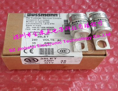 100%New and original 35LET BUSSMANN BS88:4 Fuse Cutout 35A 240V 100%New and original  35LET  BUSSMANN BS88:4 Fuse Cutout    35A   240V     Made in India