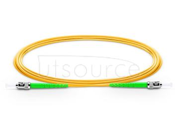 15m (49ft) ST APC to ST APC Simplex 2.0mm PVC(OFNR) 9/125 Single Mode Fiber Patch Cable