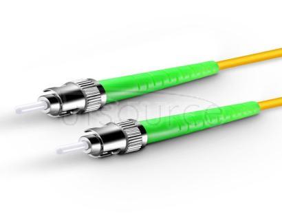30m (98ft) ST APC to ST APC Simplex 2.0mm PVC(OFNR) 9/125 Single Mode Fiber Patch Cable