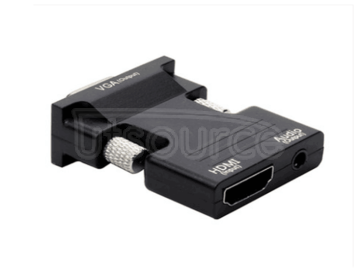 Hdmi to VGA cable with audio hdmi to VGA to PC set-top box adapter Audio and video synchronous hd conversion plug and play high-speed transmission