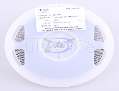 Coilmaster Elec SQH3012S-1R0N-LF