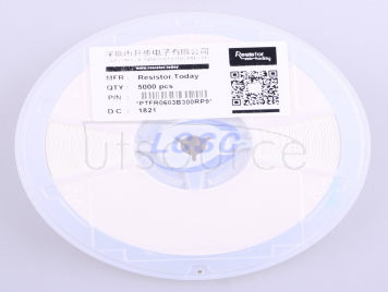 Resistor.Today PTFR0603B300RP9(10pcs)