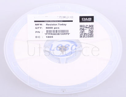 ResistorToday PTFR0603B100RP9