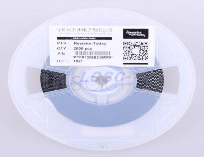 ResistorToday PTFR1206B249RP9