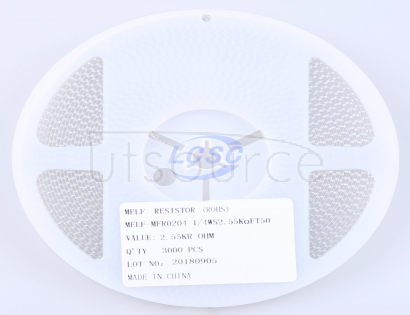 Thunder Component MELF-MFR02041/4WS2.55KΩFT50(20pcs)