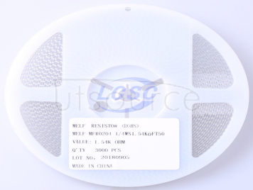 Thunder Component MELF-MFR02041/4WS1.54KΩFT50(20pcs)