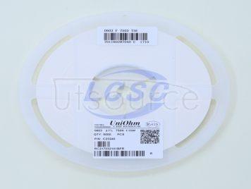 UNI-ROYAL(Uniroyal Elec) 0603WAF7503T5E(100pcs)