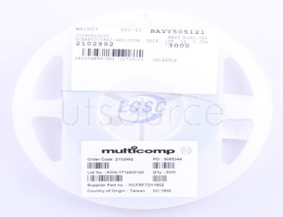 Multicomp MCFRFTDV1802
