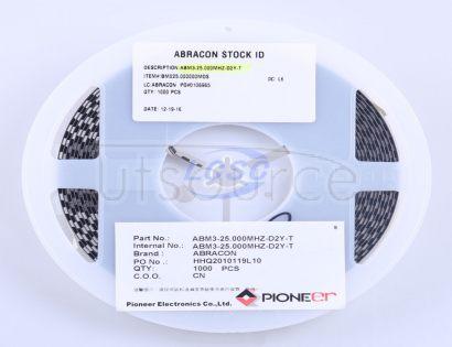 Abracon LLC ABM3-25.000MHZ-D2Y-T
