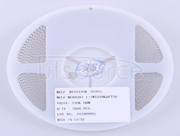 Thunder Component MELF-MFR02041/4WS330KΩFT50(20pcs)