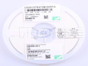 EYANG(Shenzhen Eyang Tech Development) C0201X7R472M160NTA(100pcs)