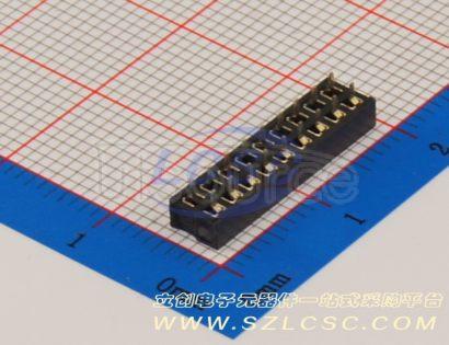 Boom Precision Elec Double female header2*9P pitch2.0mm