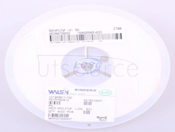 Walsin Tech Corp 0603N270G500CT(50pcs)