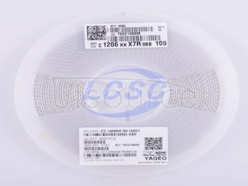 YAGEO CC1206KKX7R9BB105(10pcs)