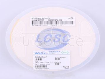 Walsin Tech Corp 0603N2R2C500(50pcs)