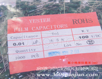 Made in China 10nF (103) 100V P=5mm