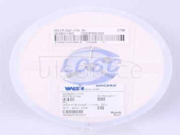 Walsin Tech Corp 0603B201K500(20pcs)
