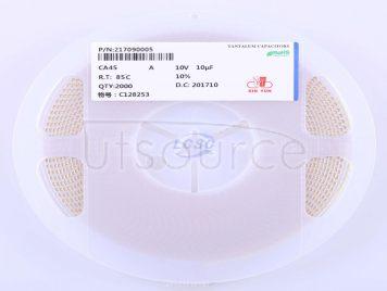 CEC(Shenzhen Zhenhua XinYun Elec) CA45-A-10V-10uF-K(5pcs)