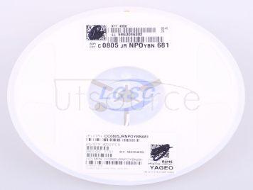 YAGEO CC0805JRNPOYBN681(50pcs)
