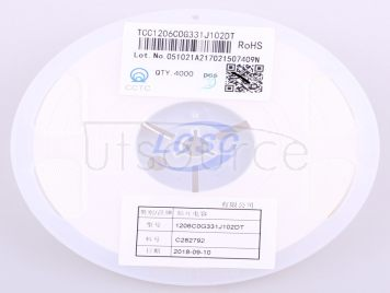 CCTC TCC1206COG331J102DT(20pcs)