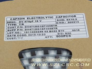 Capxon International Elec DV471M016F105ETR(5pcs)