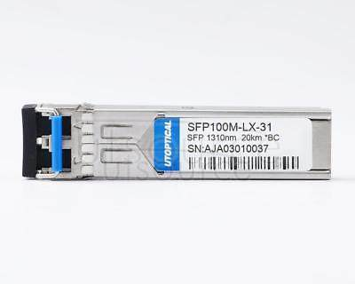 Brocade E1MG-100FX-IR-OM Compatible SFP100M-LX-31 1310nm 20km DOM Transceiver Every transceiver is individually tested on a full range of Brocade Networks equipment and passed the monitoring of Utoptical's intelligent quality control system.