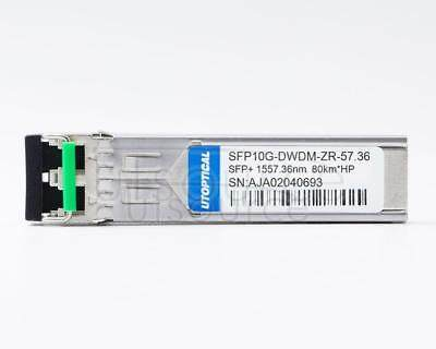 HPE DWDM-SFP10G-57.36-80 Compatible SFP10G-DWDM-ZR-57.36 1557.36nm 80km DOM Transceiver Every transceiver is individually tested on a full range of HP equipment and passed the monitoring of Utoptical's intelligent quality control system.