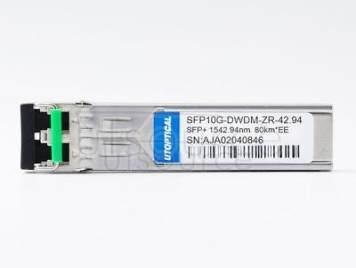 Extreme DWDM-SFP10G-42.94 Compatible SFP10G-DWDM-ZR-42.94 1542.94nm 80km DOM Transceiver