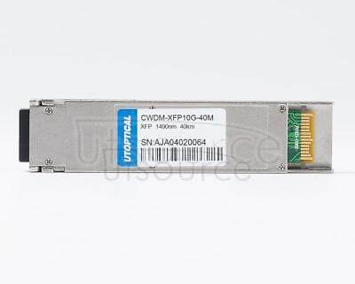 Generic CWDM-XFP10G-40M Compatible 1490nm 40km DOM Transceiver   Every transceiver is individually tested on corresponding equipment such as Cisco, Arista, Juniper, Dell, Brocade and other brands, passed the monitoring of Utoptical's intelligent quality control system.