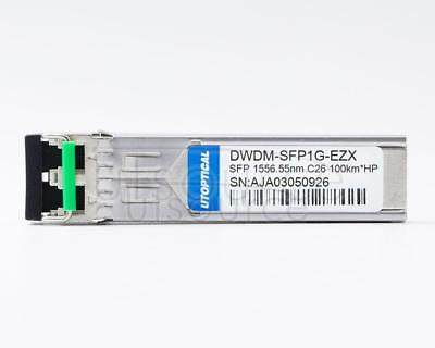 HPE DWDM-SFP1G-56.55-100 Compatible DWDM-SFP1G-EZX 1556.55nm 100km DOM Transceiver Every transceiver is individually tested on a full range of HP equipment and passed the monitoring of Utoptical's intelligent quality control system.